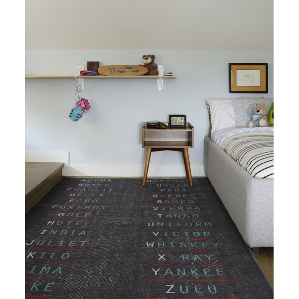 Charcoal (DIS-2) Children's / Kids Area Rug