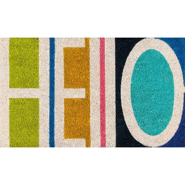 Green, Ivory, Blue (ALO-2) Contemporary / Modern Area Rug