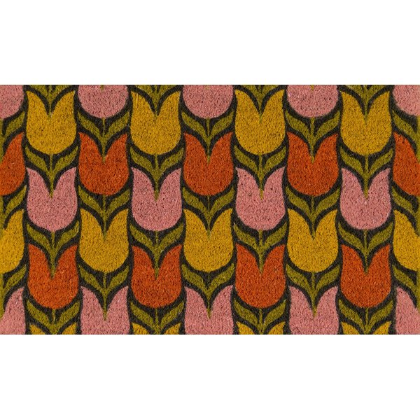 Pink, Red, Yellow (ALO-18) Floral / Botanical Area Rug