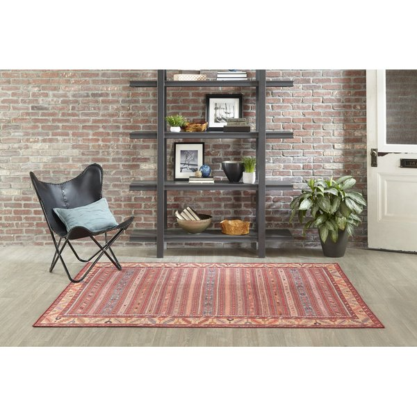 Red, Brown Southwestern Area Rug