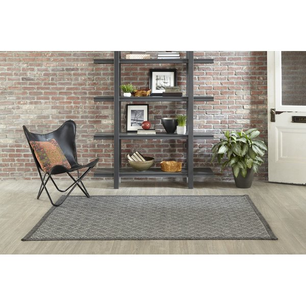 Charcoal Contemporary / Modern Area-Rugs