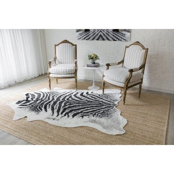 Black Zebra Animals / Animal Skins Area Rug
