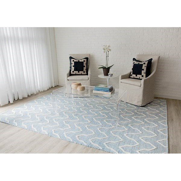 Blue (LGD-1) Contemporary / Modern Area Rug