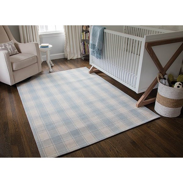 Light Blue (MLB-1) Country Area-Rugs