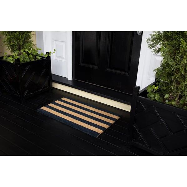 Black (PAR-02) Striped Area-Rugs