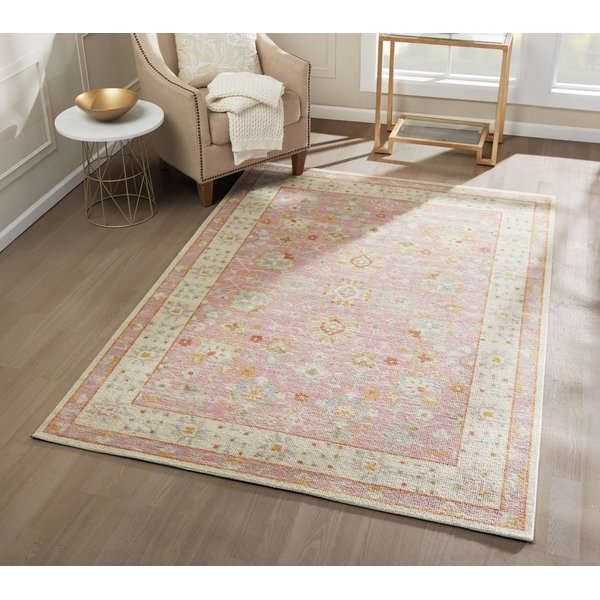 Pink Traditional / Oriental Area-Rugs