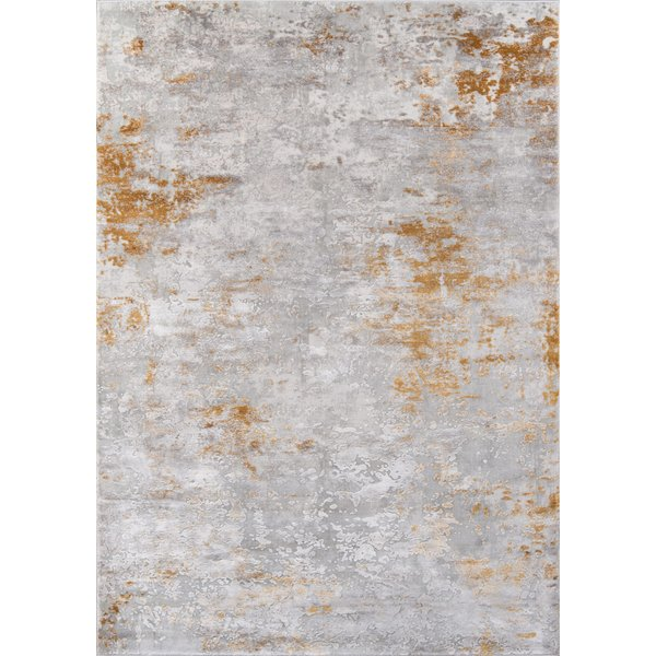 Gold Abstract Area-Rugs