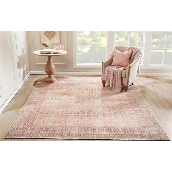 Pink Bohemian Area-Rugs