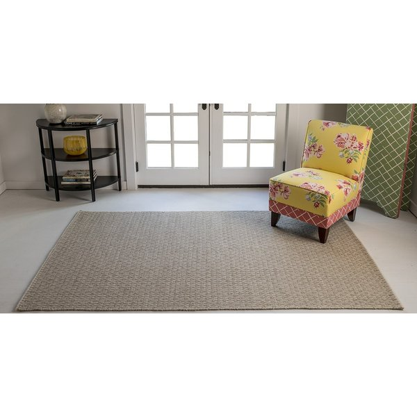 Beige, Ivory Contemporary / Modern Area Rug