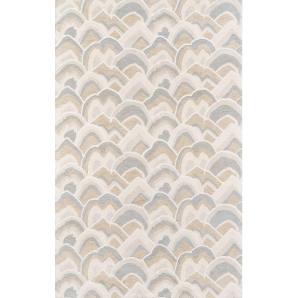 Ivory, Tan, Taupe Contemporary / Modern Area Rug
