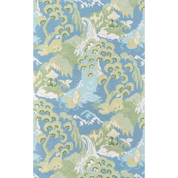 Blue, Green, Ivory Novelty / Seasonal Area Rug