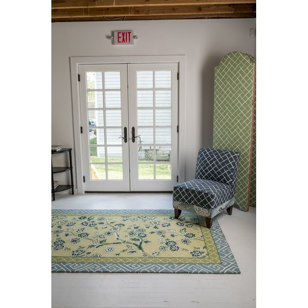 Yellow, Green, Blue Floral / Botanical Area-Rugs