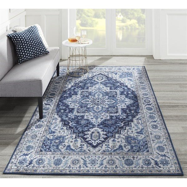 Blue Traditional / Oriental Area-Rugs