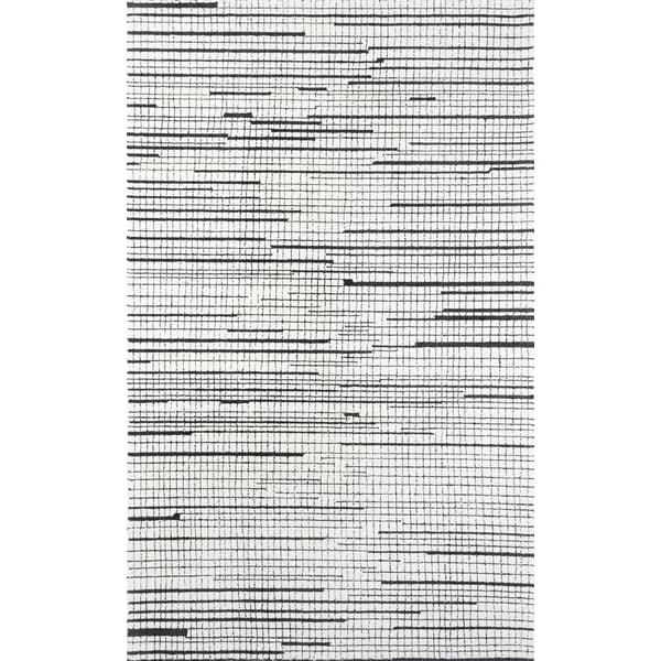 Black Contemporary / Modern Area-Rugs
