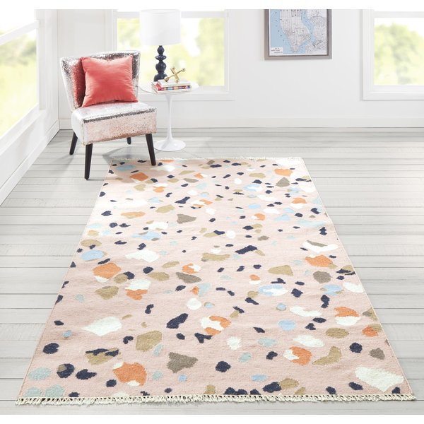 Pink (JEM-2) Contemporary / Modern Area Rug