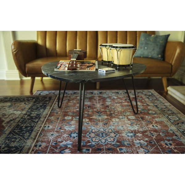 Rust, Navy, Grey (DOH-1) Vintage / Overdyed Area Rug