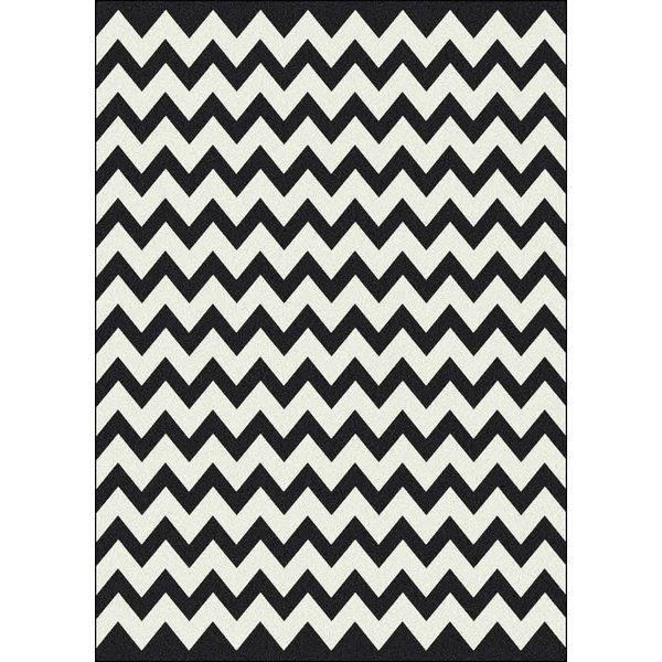 Techno Black (5) Contemporary / Modern Area Rug
