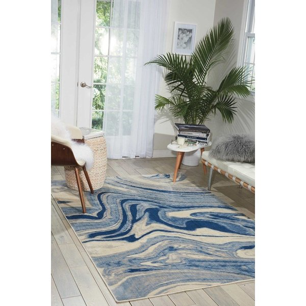 Light Blue Contemporary / Modern Area Rug