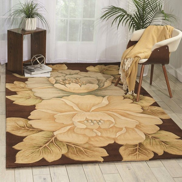Brown Floral / Botanical Area-Rugs