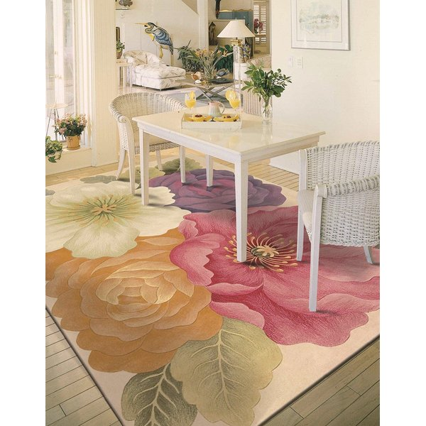 Rose, Purple Floral / Botanical Area Rug