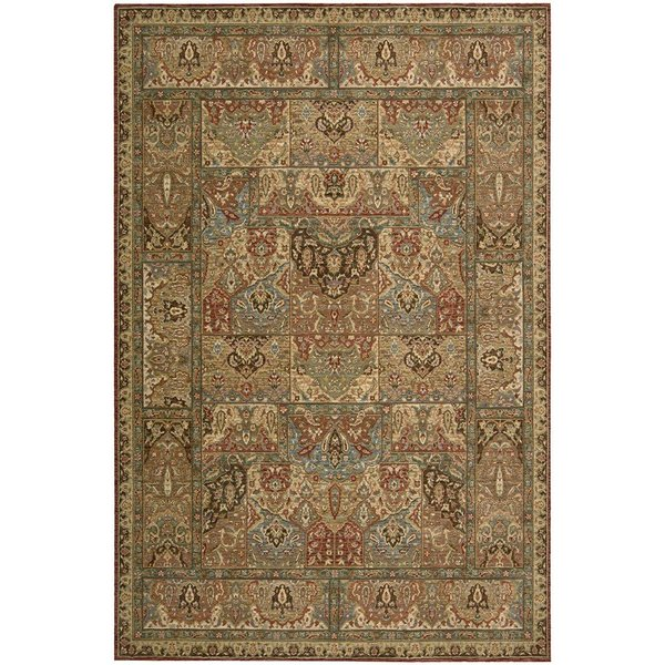 Gold, Bronze Traditional / Oriental Area Rug