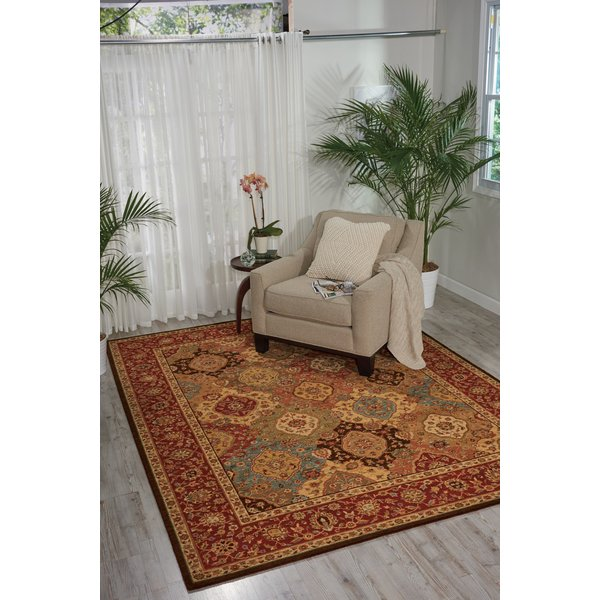 Ruby Red Traditional / Oriental Area-Rugs