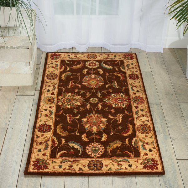 Brown Traditional / Oriental Area-Rugs