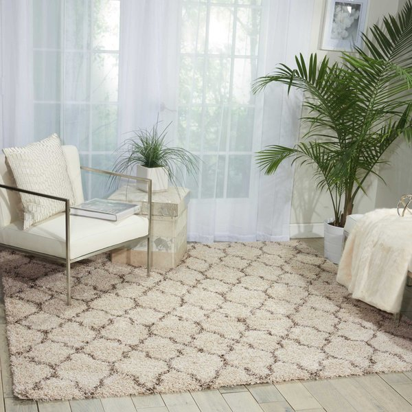 Cream Contemporary / Modern Area Rug
