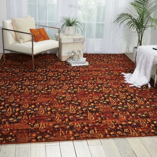 Flame Contemporary / Modern Area Rug
