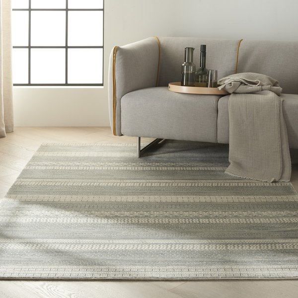 Dolomite (MAY-03) Striped Area Rug