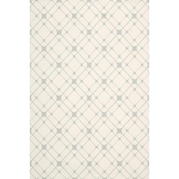 Ivory, Grey Geometric Area Rug