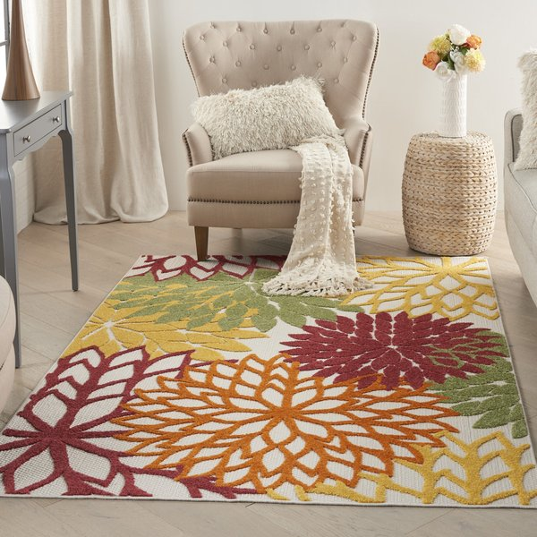 Red Floral / Botanical Area-Rugs