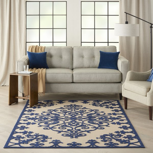 Navy Contemporary / Modern Area-Rugs