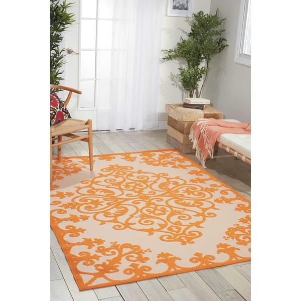 Orange Contemporary / Modern Area-Rugs