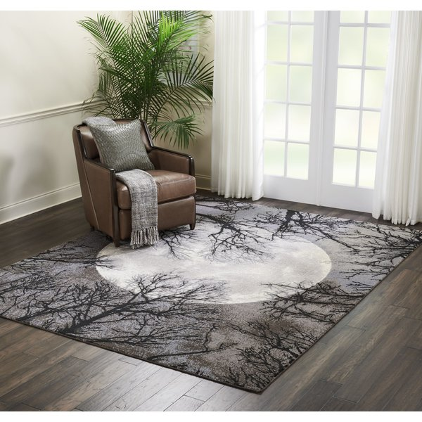Moon Floral / Botanical Area Rug