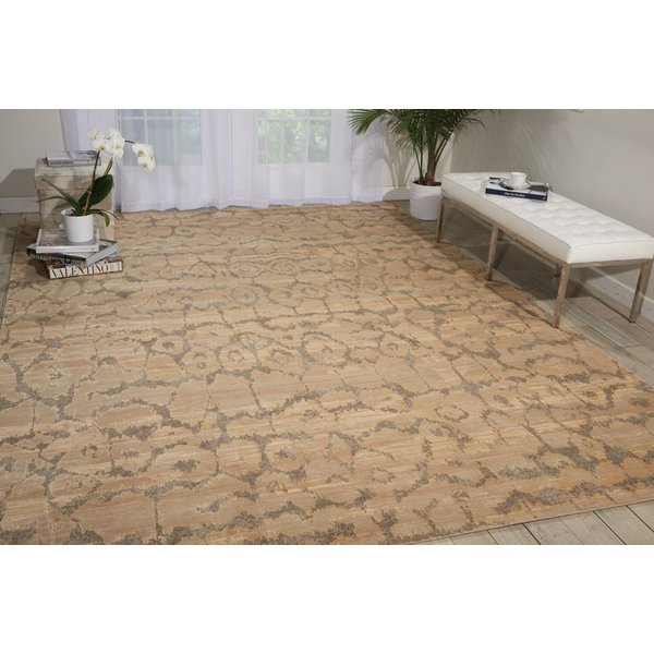 Beige Abstract Area Rug