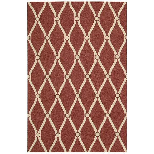 Red Contemporary / Modern Area-Rugs
