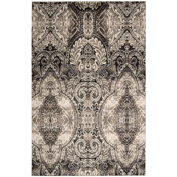 Light Grey Traditional / Oriental Area Rug