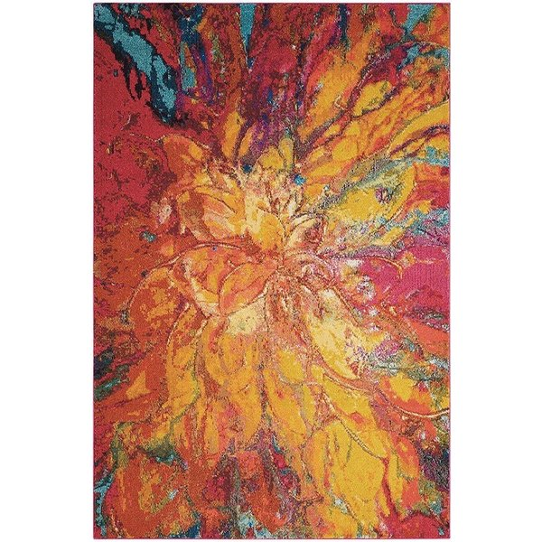 Cayenne Abstract Area Rug