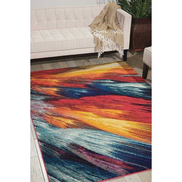 Burst Abstract Area Rug