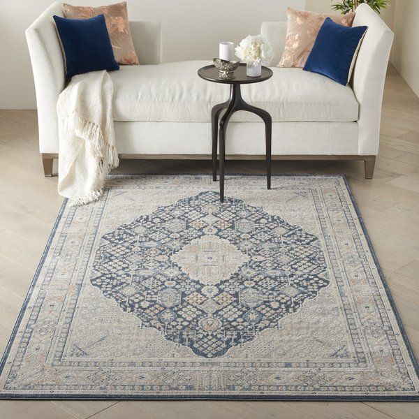 Blue, Grey Vintage / Overdyed Area-Rugs