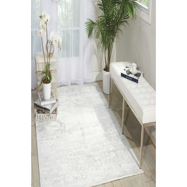 Silver, Green Vintage / Overdyed Area-Rugs