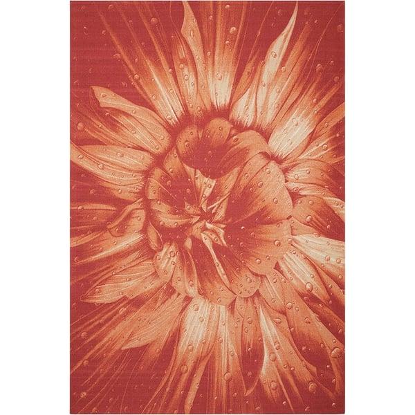 Red Floral / Botanical Area Rug