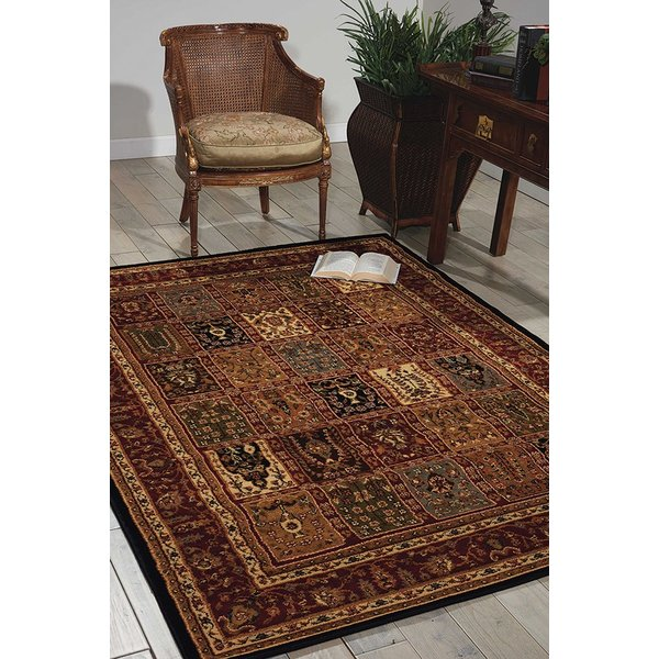 Brown, Red Traditional / Oriental Area Rug