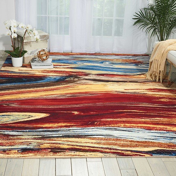 Lava Flow Contemporary / Modern Area Rug