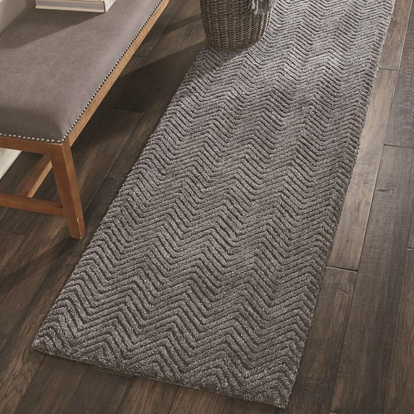 Grey Chevron Area Rug