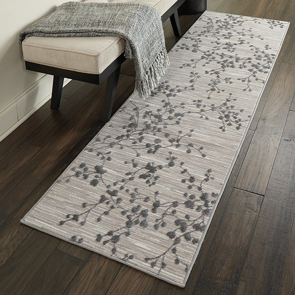 Grey Floral / Botanical Area-Rugs