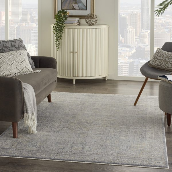 Grey, Beige Vintage / Overdyed Area Rug