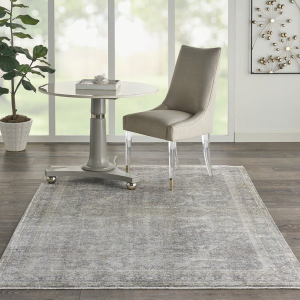 Silver, Cream Vintage / Overdyed Area Rug