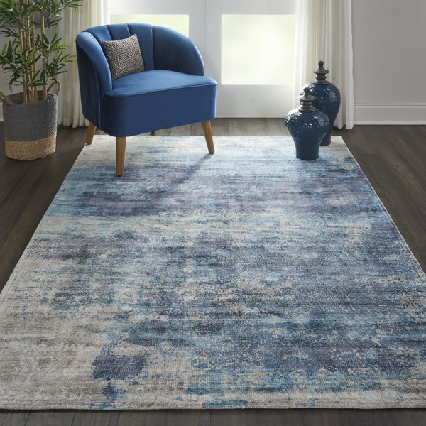 Teal Contemporary / Modern Area-Rugs